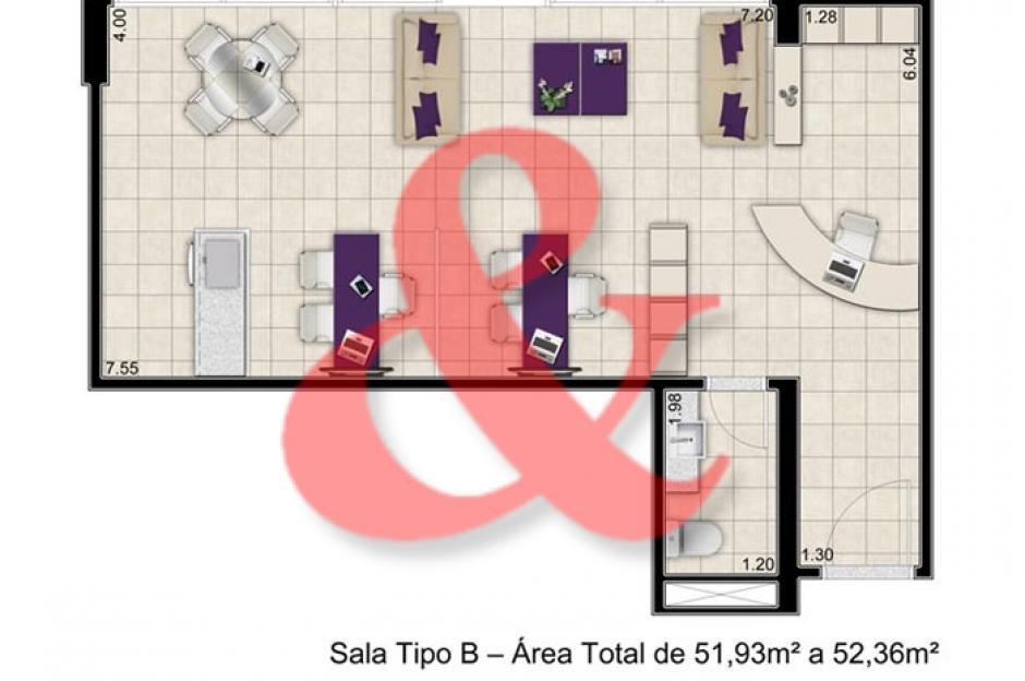 Locação salas comerciais Barão Office Santos